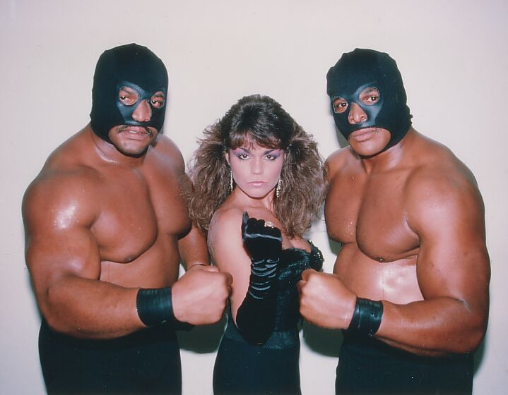 Butch Reed, Ron Simmons, and Woman