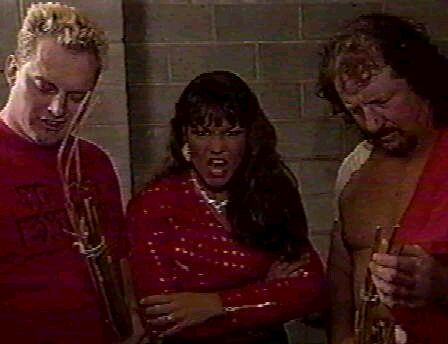 The Sandman, Terry Funk, and Woman