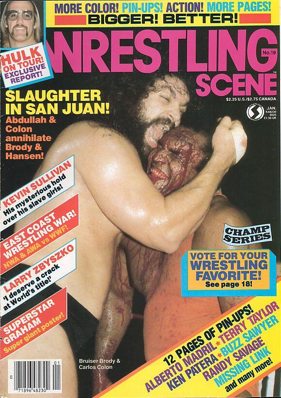 Wrestling Scene, January 1985